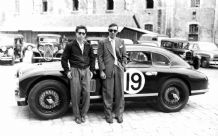 Aston Martin DB2 -1950 Le Mans Lance Macklin left Abecassis right